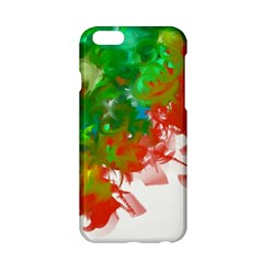 Digitally Painted Messy Paint Background Textur Apple iPhone 6/6S Hardshell Case