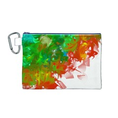 Digitally Painted Messy Paint Background Textur Canvas Cosmetic Bag (M)