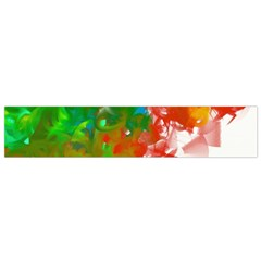 Digitally Painted Messy Paint Background Textur Flano Scarf (small)
