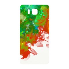 Digitally Painted Messy Paint Background Textur Samsung Galaxy Alpha Hardshell Back Case