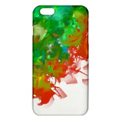 Digitally Painted Messy Paint Background Textur iPhone 6 Plus/6S Plus TPU Case
