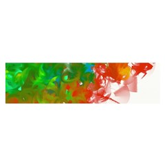 Digitally Painted Messy Paint Background Textur Satin Scarf (Oblong)