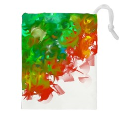 Digitally Painted Messy Paint Background Textur Drawstring Pouches (XXL)