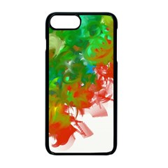 Digitally Painted Messy Paint Background Textur Apple Iphone 7 Plus Seamless Case (black)
