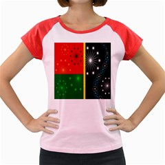 Snowflake Background Digitally Created Pattern Women s Cap Sleeve T-Shirt