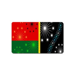 Snowflake Background Digitally Created Pattern Magnet (Name Card)