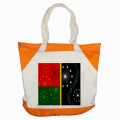 Snowflake Background Digitally Created Pattern Accent Tote Bag