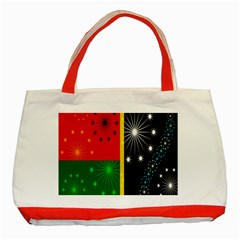Snowflake Background Digitally Created Pattern Classic Tote Bag (red)