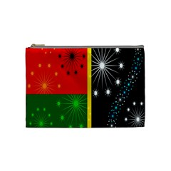 Snowflake Background Digitally Created Pattern Cosmetic Bag (Medium)