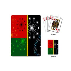 Snowflake Background Digitally Created Pattern Playing Cards (mini)