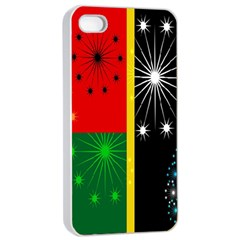Snowflake Background Digitally Created Pattern Apple Iphone 4/4s Seamless Case (white)