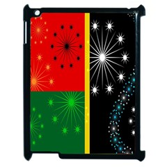 Snowflake Background Digitally Created Pattern Apple iPad 2 Case (Black)