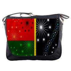 Snowflake Background Digitally Created Pattern Messenger Bags