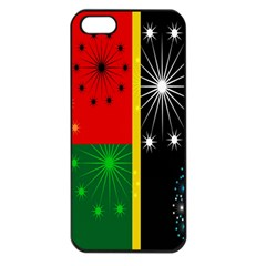 Snowflake Background Digitally Created Pattern Apple Iphone 5 Seamless Case (black)