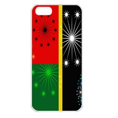 Snowflake Background Digitally Created Pattern Apple iPhone 5 Seamless Case (White)