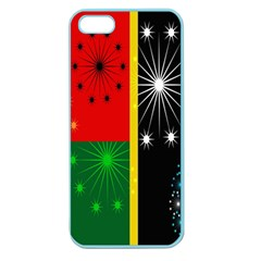 Snowflake Background Digitally Created Pattern Apple Seamless iPhone 5 Case (Color)