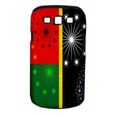 Snowflake Background Digitally Created Pattern Samsung Galaxy S III Classic Hardshell Case (PC+Silicone)