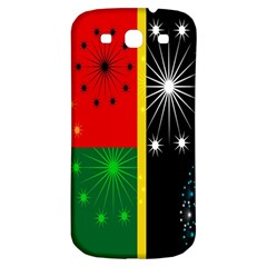 Snowflake Background Digitally Created Pattern Samsung Galaxy S3 S III Classic Hardshell Back Case