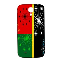 Snowflake Background Digitally Created Pattern Samsung Galaxy S4 I9500/i9505  Hardshell Back Case
