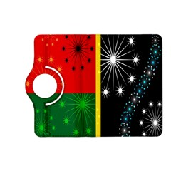 Snowflake Background Digitally Created Pattern Kindle Fire HD (2013) Flip 360 Case