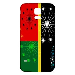 Snowflake Background Digitally Created Pattern Samsung Galaxy S5 Back Case (white)