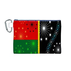 Snowflake Background Digitally Created Pattern Canvas Cosmetic Bag (m)