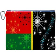 Snowflake Background Digitally Created Pattern Canvas Cosmetic Bag (xxxl)