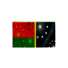 Snowflake Background Digitally Created Pattern Cosmetic Bag (XS)