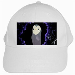 Fractal Image With Penguin Drawing White Cap