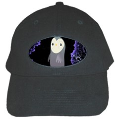 Fractal Image With Penguin Drawing Black Cap