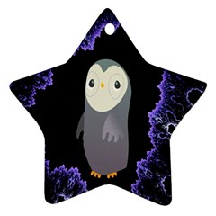 Fractal Image With Penguin Drawing Ornament (Star)