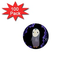 Fractal Image With Penguin Drawing 1  Mini Magnets (100 Pack)