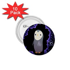 Fractal Image With Penguin Drawing 1.75  Buttons (10 pack)