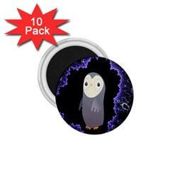 Fractal Image With Penguin Drawing 1 75  Magnets (10 Pack)