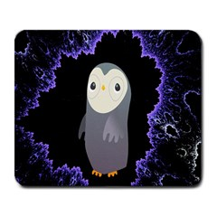 Fractal Image With Penguin Drawing Large Mousepads