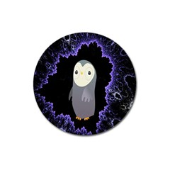 Fractal Image With Penguin Drawing Magnet 3  (Round)