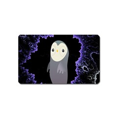 Fractal Image With Penguin Drawing Magnet (Name Card)