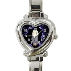 Fractal Image With Penguin Drawing Heart Italian Charm Watch