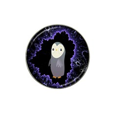 Fractal Image With Penguin Drawing Hat Clip Ball Marker (4 Pack)