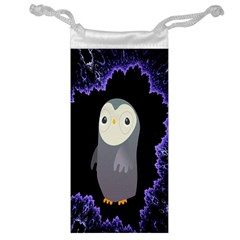 Fractal Image With Penguin Drawing Jewelry Bag