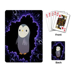 Fractal Image With Penguin Drawing Playing Card