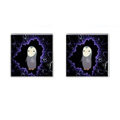 Fractal Image With Penguin Drawing Cufflinks (square)