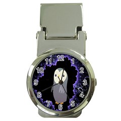 Fractal Image With Penguin Drawing Money Clip Watches