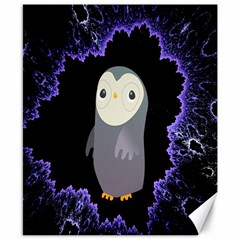 Fractal Image With Penguin Drawing Canvas 8  x 10