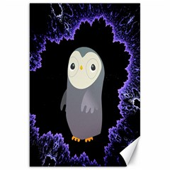 Fractal Image With Penguin Drawing Canvas 20  x 30