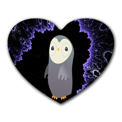 Fractal Image With Penguin Drawing Heart Mousepads