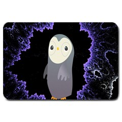 Fractal Image With Penguin Drawing Large Doormat