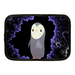 Fractal Image With Penguin Drawing Netbook Case (Medium)