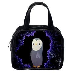 Fractal Image With Penguin Drawing Classic Handbags (One Side)