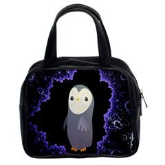 Fractal Image With Penguin Drawing Classic Handbags (2 Sides)